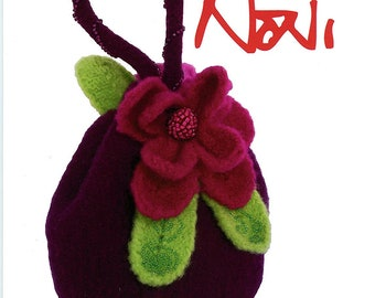 Night Garden Felted Evening Bag - Noni Knitting Pattern #108 - Nora J. Bellows