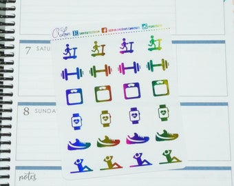 Foil Fitness Stickers