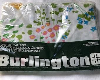 Vintage Burlinton Twin Flat Sheet