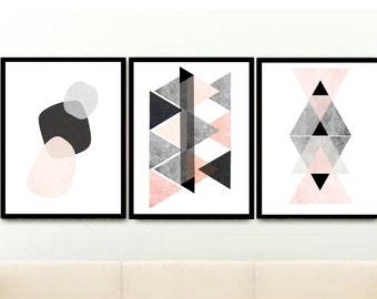 Kunstdrucke Moderne Kunst skandinavische kunst abstrakt kunstdruck print kreis