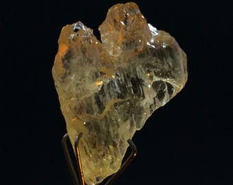 Etched Heliodor Crystal - Itatiaia Mine, Doce Valley, Minas Gerais, Brazil