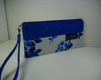 Blue Bridesmaid Clutch, Monogram Clutch, Gift for Bridesmaid, Womans Gifts, Wedding Cluch
