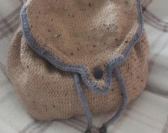 hand knitted rucksack