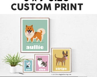 5x7 Custom Pet Print - choose your breed
