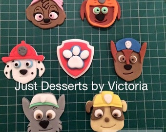 Paw Patrol cupcake toppers set of 7