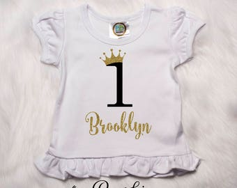 First Birthday Shirt, 1st Birthday Outfit, 1st Birthday Girl, I'm One, I'm One Shirt, First Birthday Outfit, Birthday Outfit, Princess P11