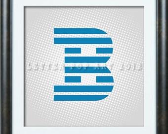 Alphabet Pop Art Print Using IBM Logo Letter B