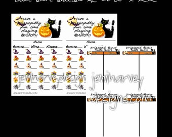Frightful (Halloween) Bunco Score Sheet