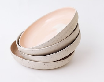Ceramic dinnerware. Speckled plates. Ceramic plate set. Ceramic dinner & Rustic dinnerware | Etsy