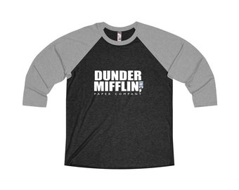 the office merchandise. Dunder Mifflin Paper Company Baseball Raglan Tshirt - Shirt The Office T- Merchandise