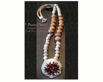 Asymmetrical Prairie Flower Necklace