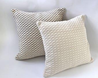 Bobble Collection // Cream Throw Pillows // Brown Throw Pillows // Decorative Pillow Covers
