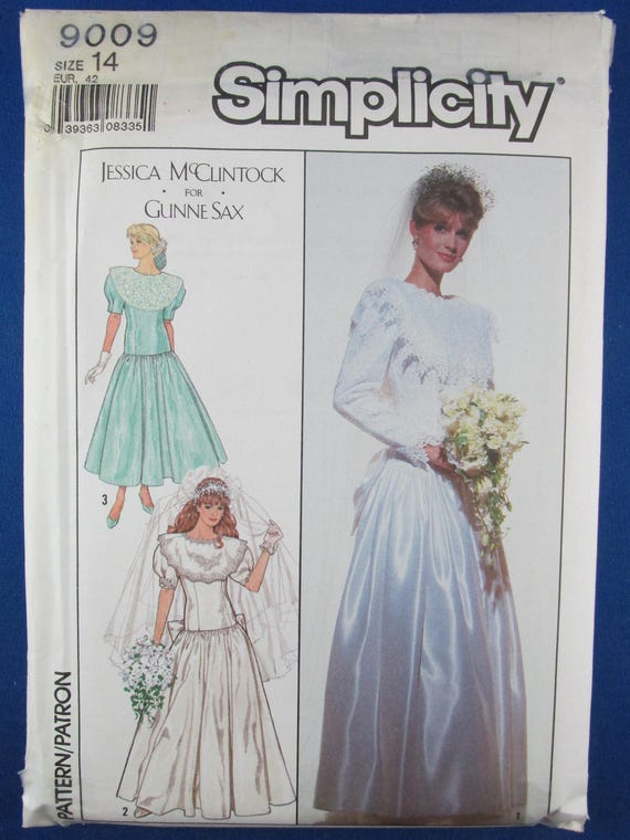Dress Sewing Pattern Simplicity 9009, Misses Wedding Gown, Evening ...