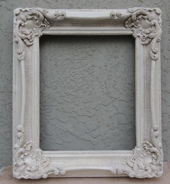 White Picture Frames, 20 x 24 Frame, Ornate Picture Frame, Vintage ...