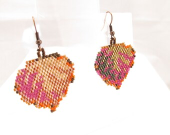 Earrings-Aspen leaf earrings-fall colors-no two leaves are alike-natural-Colorado made-western wear-modern style-lightweight-earthy-nature