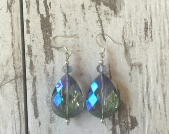 Aurora Borealis Crystal Drop Earrings