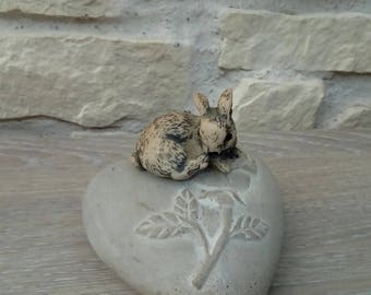 Rabbit figurine miniature home decor