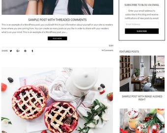 WordPress Blog Theme - Lifestyle Blog Design -  WordPress Theme - WordPress Blog Design and Installation - Phyllis