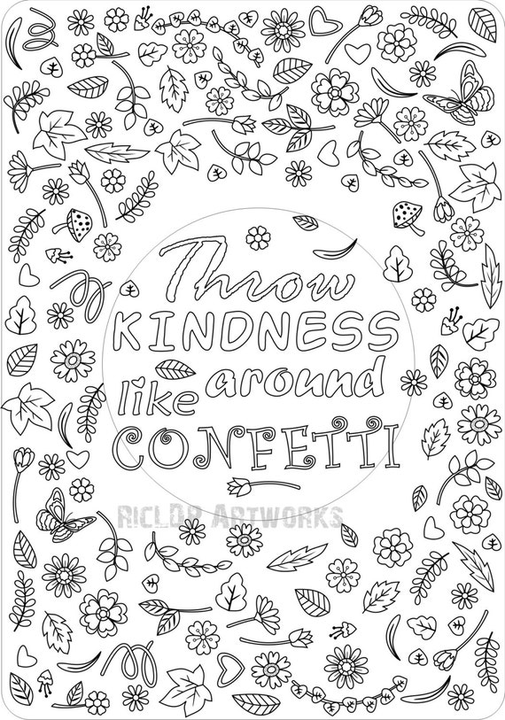 Printable Throw Kindness Around Like Confetti