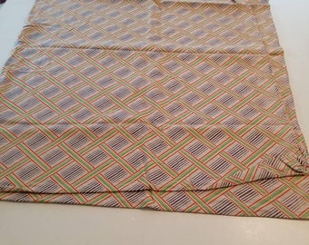 Vintage feedsack fabric multicolor stripe