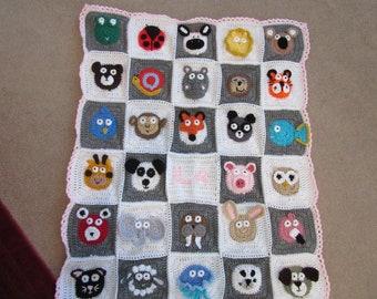 Animals squares blanket