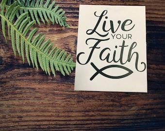 Live Your Faith,,Ready to hang canvas, christian wall art, Christian canvas, Faith quote,Religious Wall art,Custom wall canvas,custom design