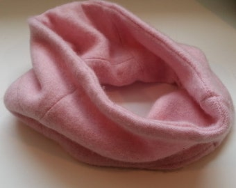 Cashemer Neckwarmer, Pink Neckwarmer,  Neck warmer, Gaiter, Upcycled Pink