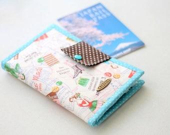 Quilted Wallet, Passport Wallet, Phone Wallet, Credit Card Wallet, passport holder, travel gift, Suzuko Koseki