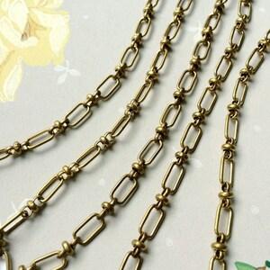 Vintage Beaux Chain, Fancy Brass Chain,11mm, 3Ft