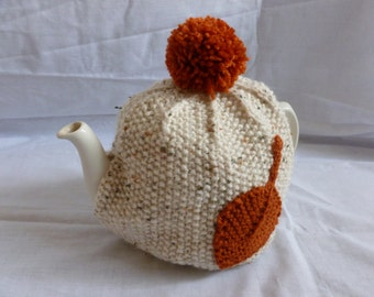 Hand Knitted Tea Cosy (Medium / 4 Cup Size) + 4 Free Coasters - **SALE**