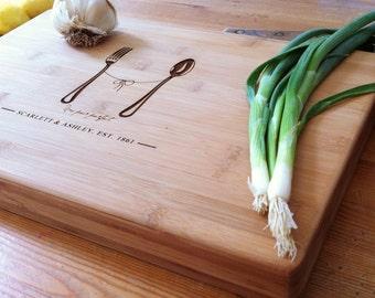 Custom Cutting Board, Couple Cutting Board, Butcher Block, Custom Cheese Board, Chopping Board, Foodie Gift, Newlyweds Gift, 5th Anniversary