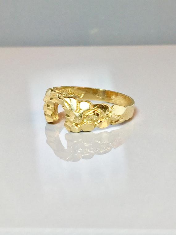 14k solid gold La s nug horseshoe rings 14k gold nug