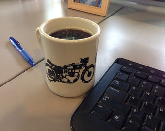 KillerBeeMoto: Coffee Racer Diner's Coffee Motorcycle Mug