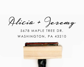 Custom Return Address Pre-Designed Rubber Stamp - Branding, Packaging, Invitations, Party, Wedding Favors - A019