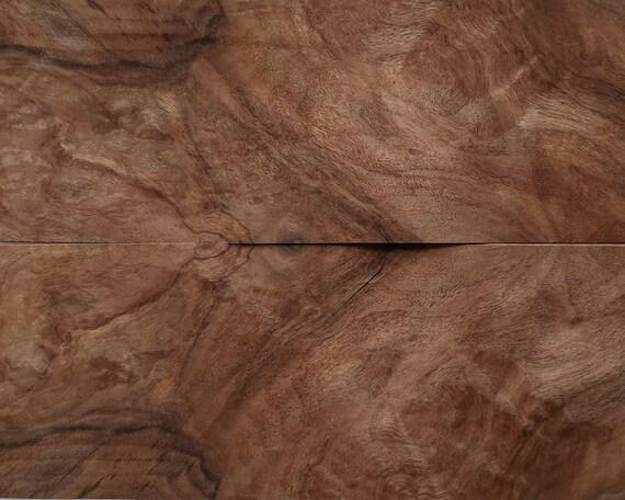 Radica di noce impiallacciatura fogli, 43x16cm, 2 fogli, grado A / B ...