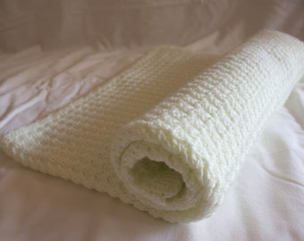Crotchet Baby Blanket - Ivory