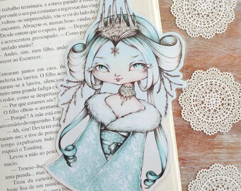 Snow Princess - bookmark - made to order