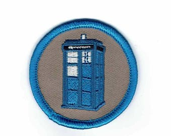 Dr Who Time Machine Box Tardis Police Cosplay Patch