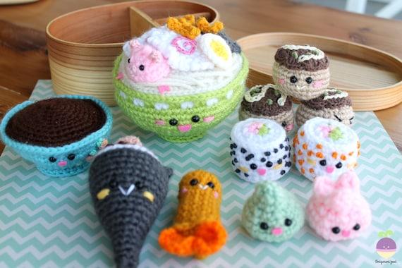 Amigurumi Food : Crochet pattern amigurumi food bento family ii crochet pattern