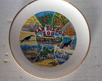 Vintage San Diego Zoo Collector Plate - free shipping