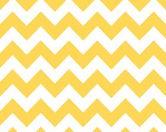 Riley Blake Medium Chevron Yellow Fabric, 1 yard