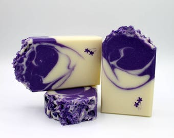 Lilac Soap, Cold Process Soap, Handmade Soap for Her, Soap with Shea Butter, Bath and Body Soap, Artisan Soap, Purple Soap, Half or Full Bar
