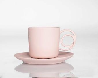 Wire Handle espresso cup pink