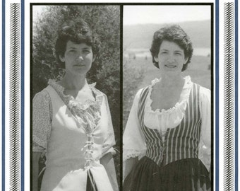 Women's Colonial - Pioneer Bodice or Vest sizes 8-20 Eagle's View Sewing Pattern #58 - Historic Costume