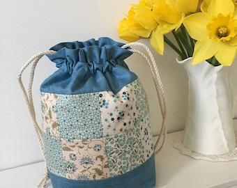 Tilda Patchwork Drawstring Bag / Project Bag (small)