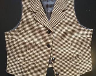 Vintage Gap Houndstooth Vest
