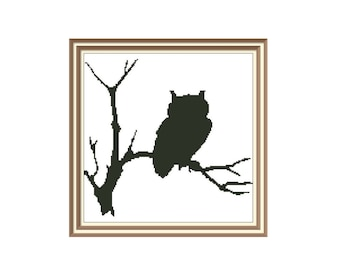 "Cross stitch pattern ""Owl"",Instant download PDF"