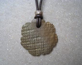 Bronze Pendant - Metal Pendant - Unisex Pendant