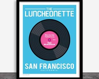 The Luncheonette - Parenthood Vinyl Record Art Print Poster