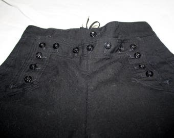 Vintage 1960's Navy Dark Blue Bell Bottom Pants
